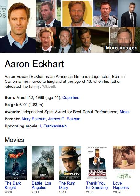 Aaron Eckhart Mormon