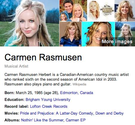 Carmen Rassmussen Summary