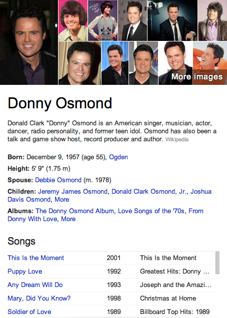 Donny Osmond Mormon