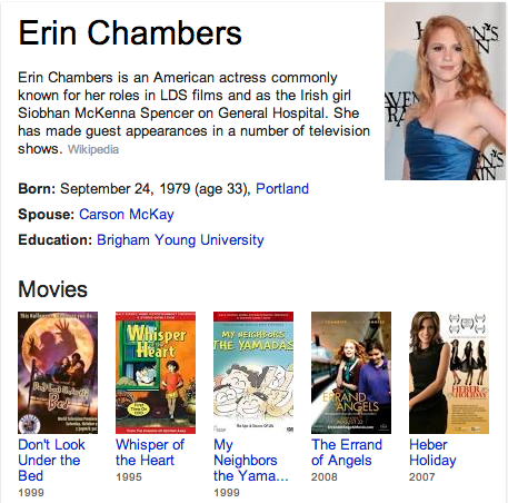 Erin Chambers Mormon