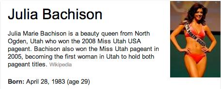 Julia Bachison Mormon