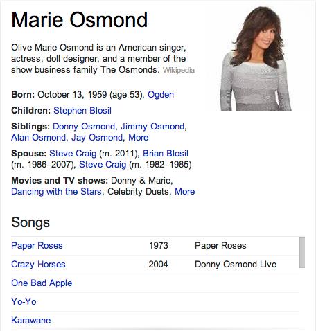 Marie Osmond Mormon
