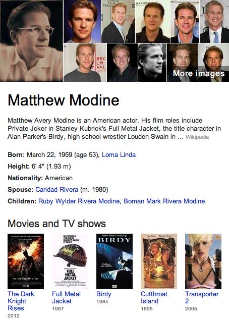 Matthew Modine Mormon