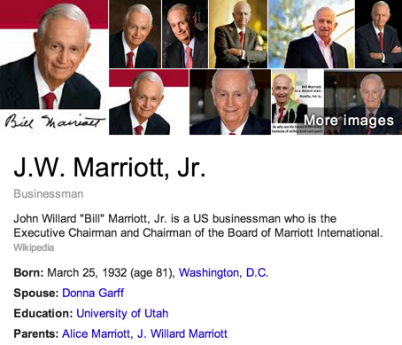 Bill Marriott Hotels Mormon