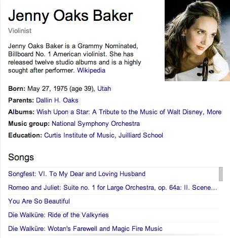 Jenny Oaks Baker Mormon